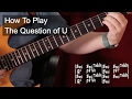 watch he video of 'The Question of U' Chords - Prince Guitar Lesson