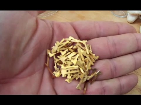 GOLDPINS SALPETERSÄURE | GOLD PLATED PINS NITRIC ACID | URBAN MINING | #T074