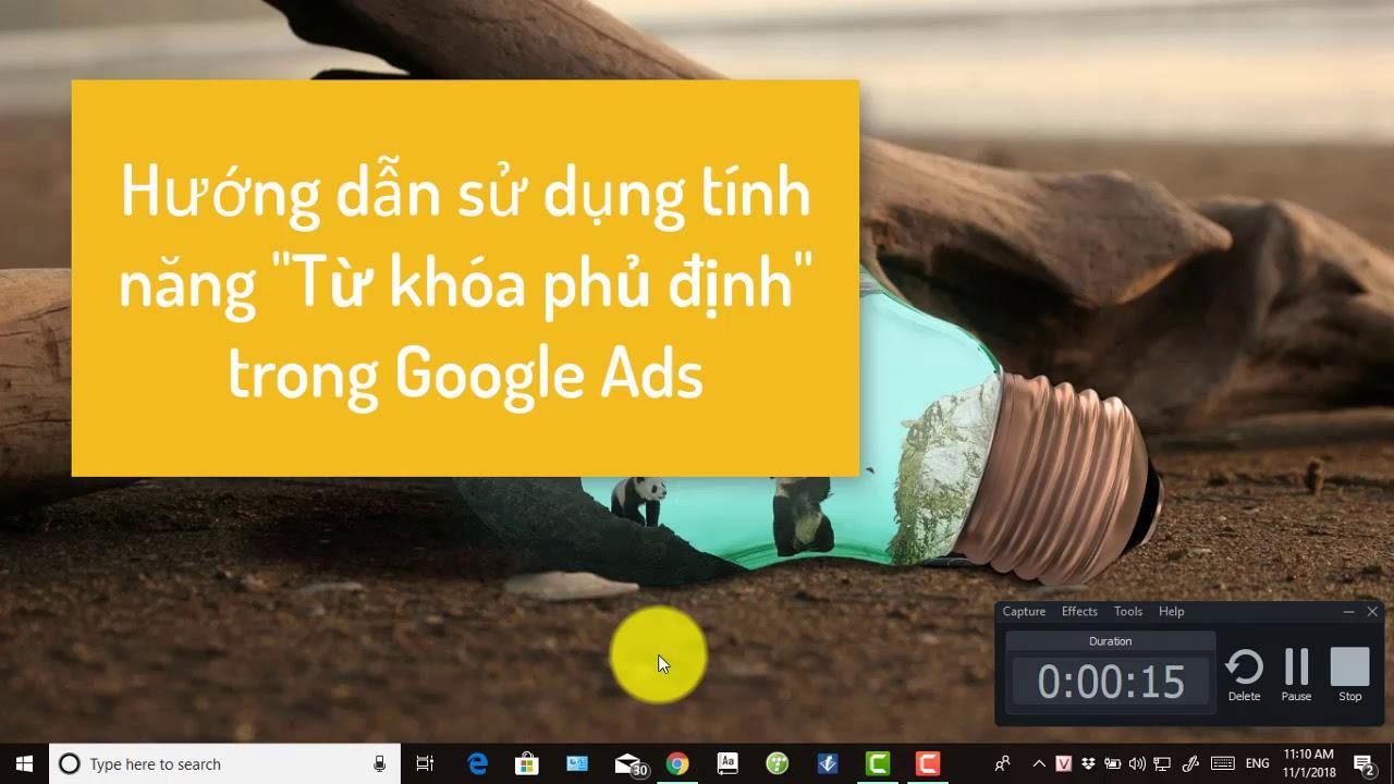 Hướng dẫn sử dụng tính năng từ khóa phủ định trên Google Ads