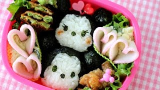 "Disney ""TSUM TSUM"" Bento Lunch Box (kyaraben) ハートがいっぱい♥ツムツム弁当 キャラ弁"