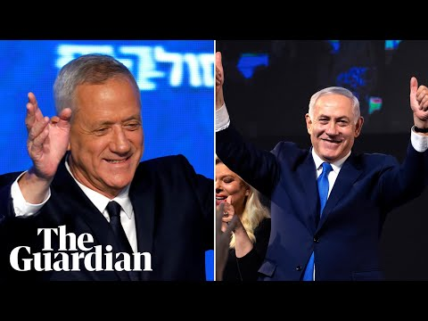Israel election: Benjamin Netanyahu and Benny Gantz both declare win
