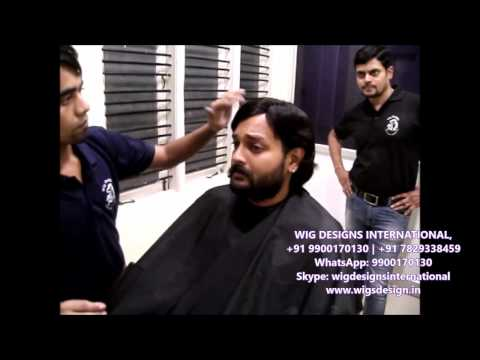 Hair Fixing - Hero ANJAN of Sandalwood - 07829338459 Wig Designs International in Bangalore