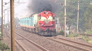 Extremely Chugging Jhansi Alco With Humsafar Express