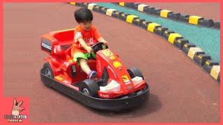 키즈 카페 자동차 F1 포뮬러 스포츠카 레이싱 기차 타기 어린이 장난감 놀이 ♡ 코코몽 에코파크 테마파크 #1 Kid Park Fun | 말이야와아이들 MariAndKids