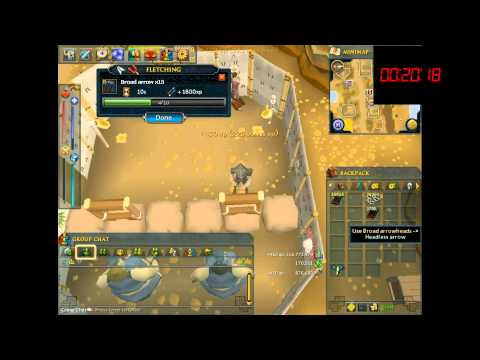 RuneScape - Fletching - 1 hour of Broad Arrows