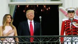 Watch Melania Try To Low-Key Nudge Trump