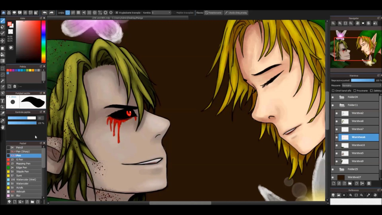 Link And Ben Drowned Speedpaint By Weroni Youtube
