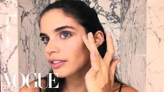 Victoria's Secret Model Sara Sampaio's Easy Bombshell Makeup Look | Beauty Secrets | Vogue