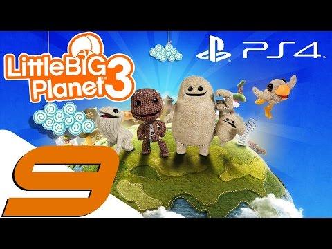 LittleBigPlanet 3 - PS4 Walkthrough Part 9 - Swoop Gameplay & Newton Attack