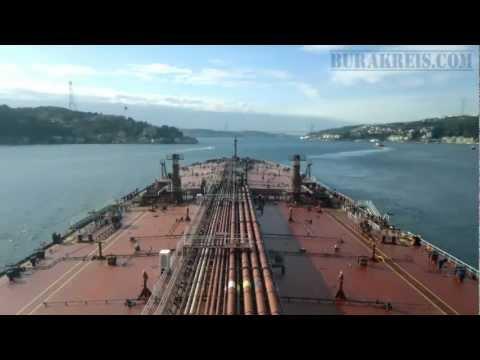 Suezmax tanker at Istanbul Bogazi (Bosporus)