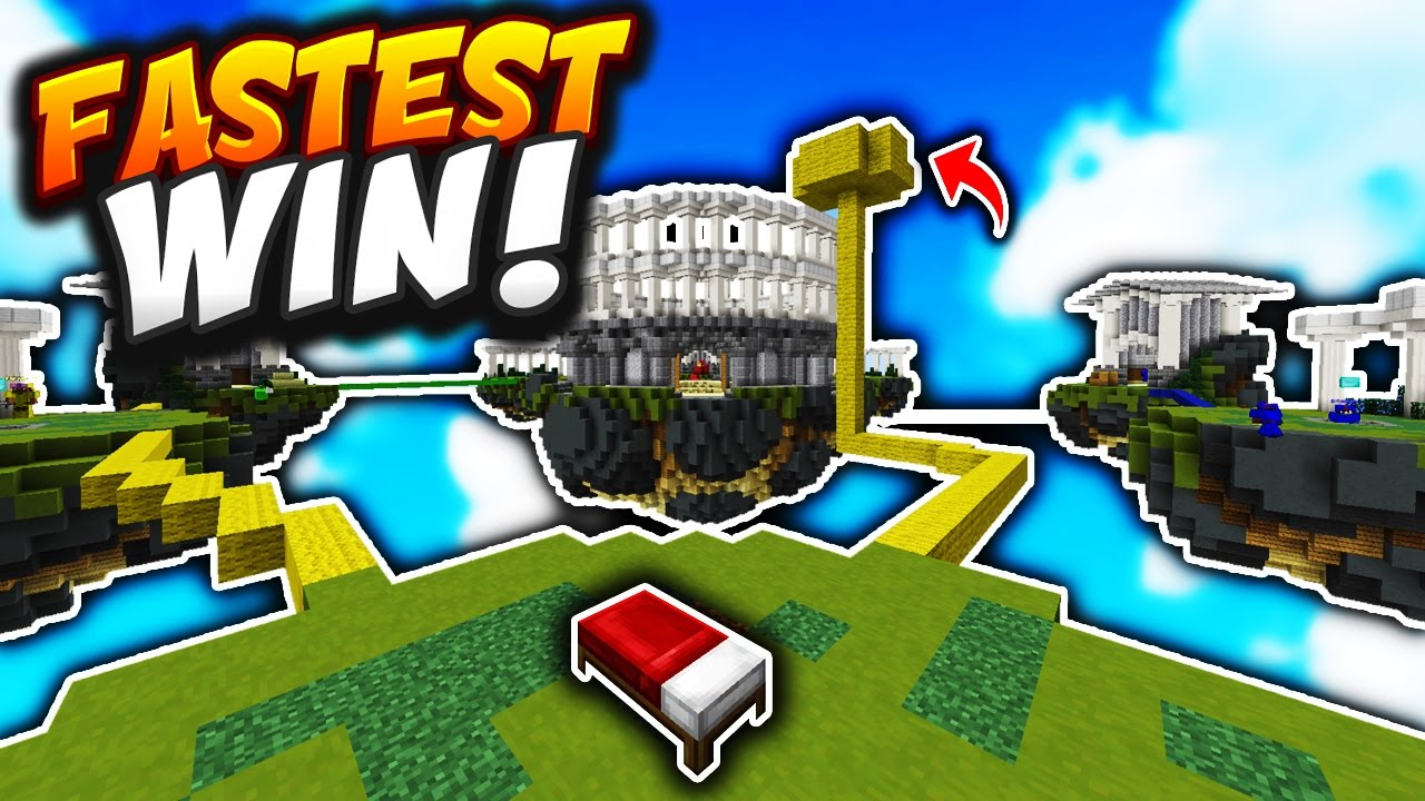 Fastest Win In Bed Wars Minecraft Bed Wars Youtube
