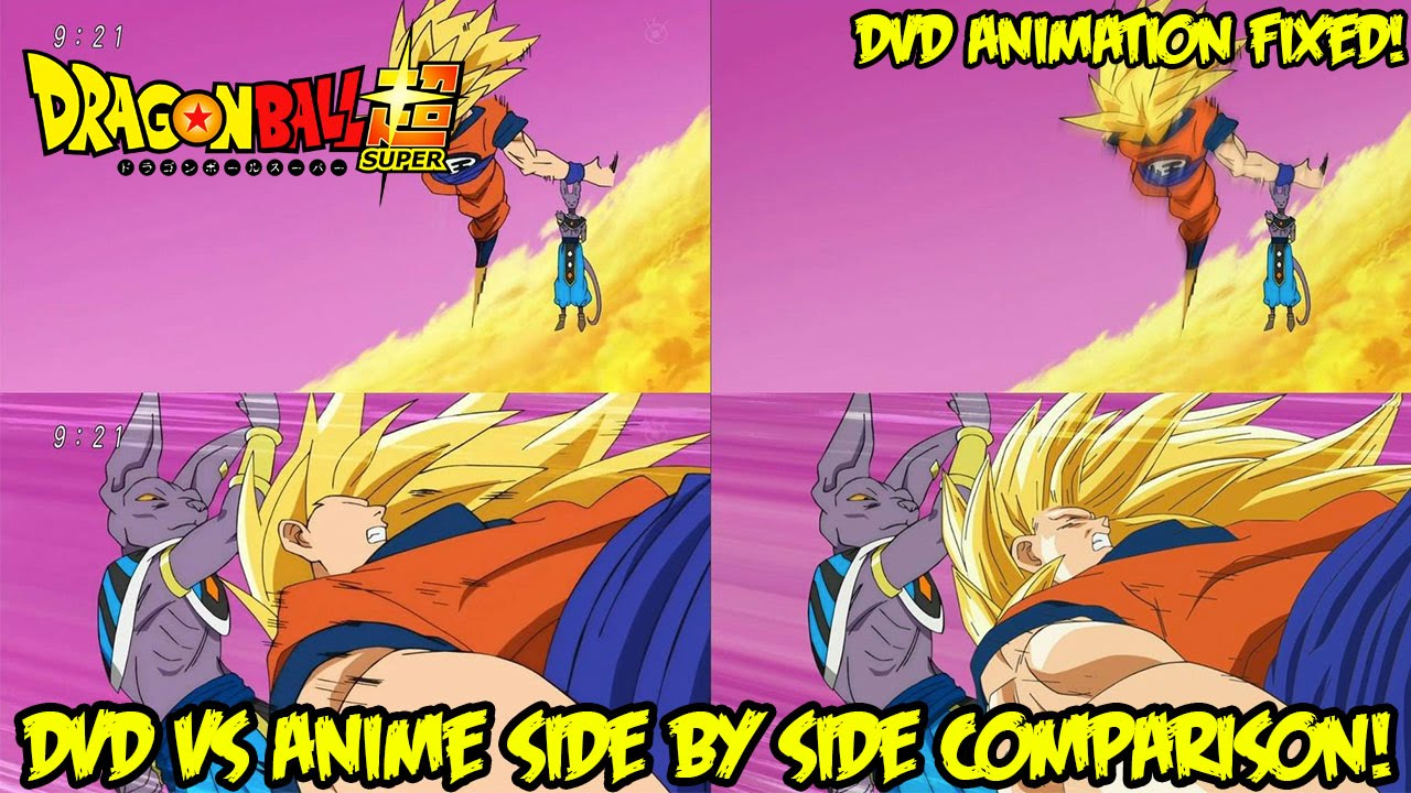 Dragon Ball Super Toei Fixes Animation For Dvd Release Episode 5 Side By Side Comparison