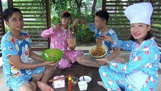 Ăn Trưa Món Mì Trộn ❤ BIBI TV ❤