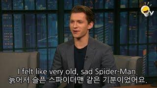 톰 홀랜드가 스파이더맨 수트를 입어보고 대실망한 이유. 영어 인터뷰. 영국 영어. 진저 영어
