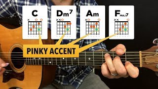 using pinky accent notes to spice up a chord progression (practice log #5)