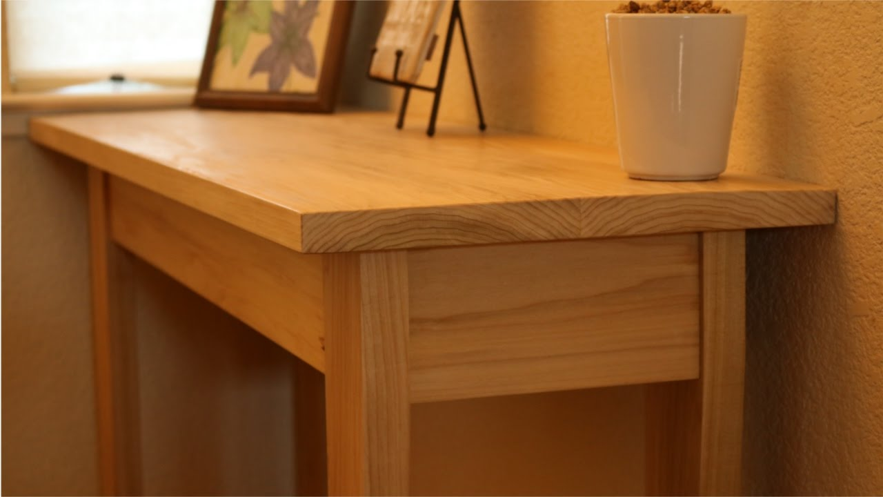 Building An Elegant Hall Table | Woodworking