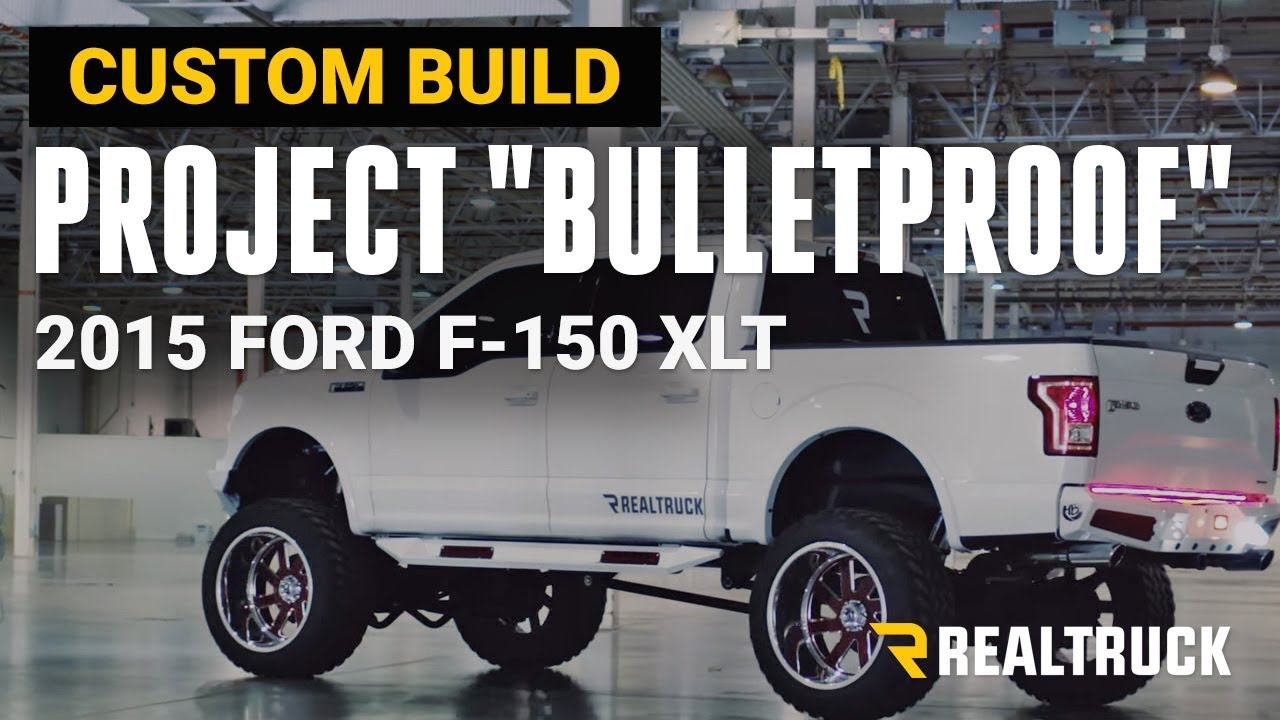 "Project ""Bulletproof"" Custom 2015 Ford F-150 XLT Truck Build 12"" Inch Lift on 24 x14 Fuel Wheels ..."