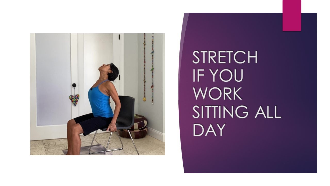Need to stretch of sitting all day during work?