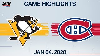 Nhl Highlights   Penguins Vs Canadiens - Jan. 04, 2020