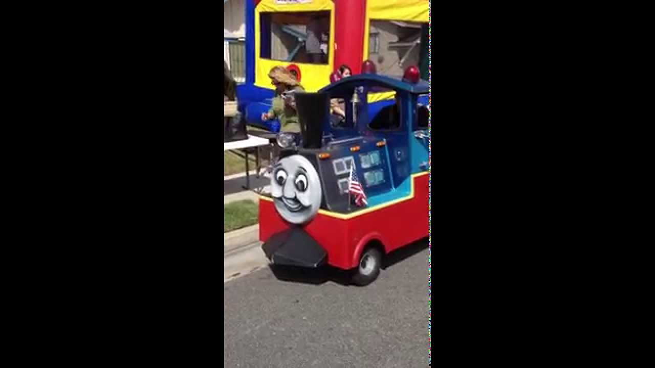 Trackless Train Birthday Party YouTube