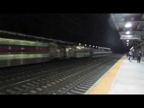 NJ Transit Full HD: Two Bi-Level Trains at Hamilton Station