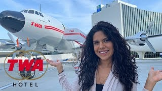 TWA Hotel JFK- Is NYC's New RETRO AIRPORT HOTEL Worth It?  (We Spent The Night To Find Out !)