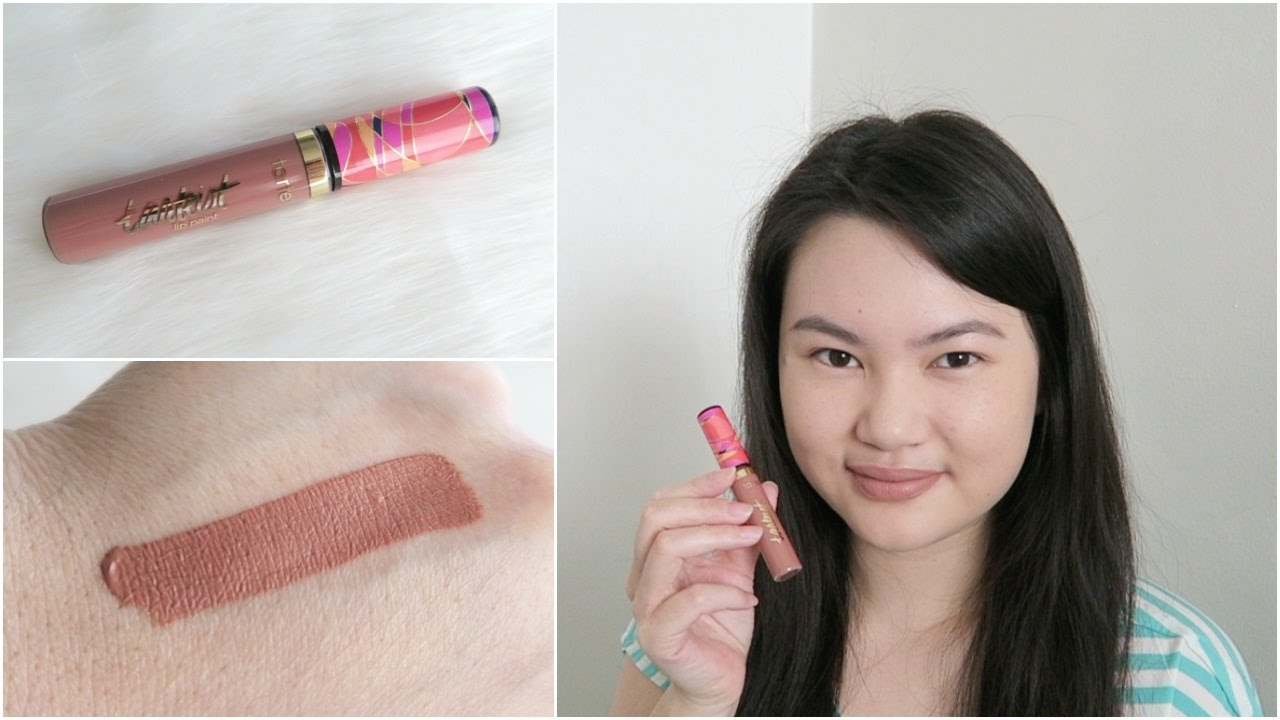 tarte tarteist quick dry matte lip paint bestie review