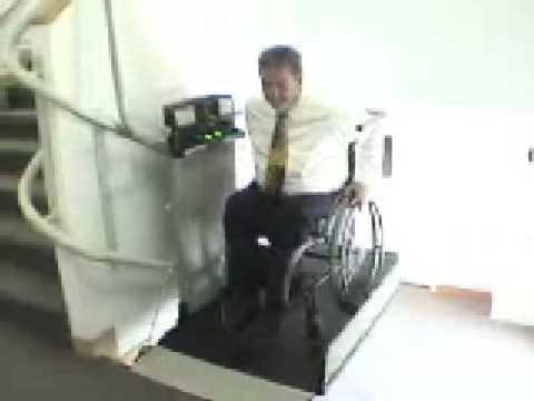 Wheelchair Lift made by Garaventa                        Inclined Platform Lift