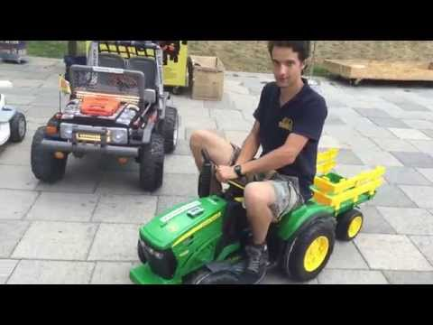 4f23b74fbc Peg Perego John Deere Ground Force inkl. Anhänger 12V - YouTube