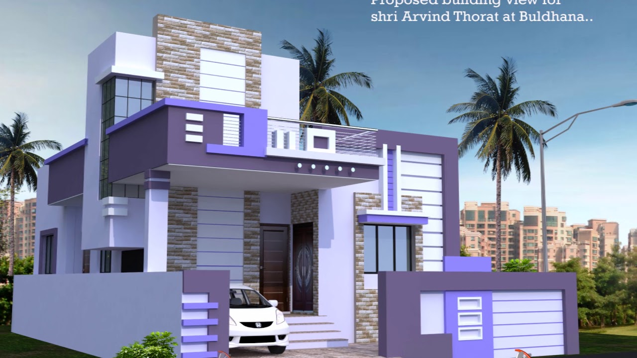 2Bhk Front Staircase House Plan Youtube | Home Front Stairs Design | Outside Stair | Double Floor | Building | Balcony | Beautiful