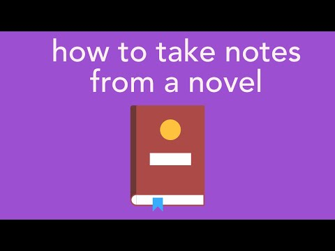 How To Take Notes From Novel