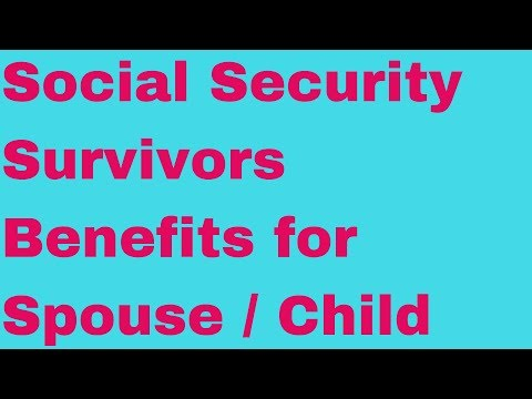 🔴Social Security Survivors Benefit for Spouse and Child How Much Money Do You Get