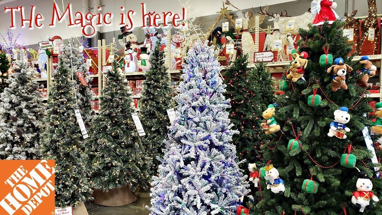 THE HOME DEPOT CHRISTMAS DECOR SNEEK PEEK WALK THROUGH