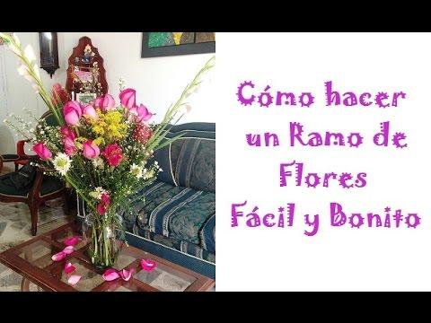 C mo hacer un ramo de flores f cil y bonito youtube - Como hacer ramos de flores ...