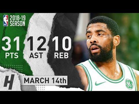 Kyrie Irving Triple-Double Full Highlights Celtics vs Kings 2019.03.14 - 31 Pts, 12 Ast, 10 Reb!