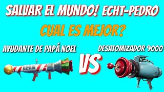 Desatomizer vs Santa's Helper Save the Fortnite World