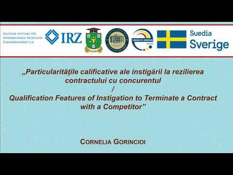 Cornelia Gorincioi — Instigarea la rezilierea contractului cu concurentul