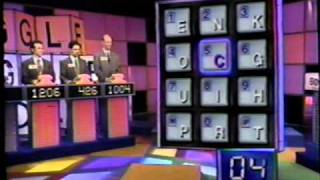 BOGGLE Game Show 1994 WINK MARTINDALE & Contestant Terry Ray