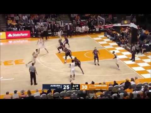 Auburn Forward Horace Spencer Almost Double Double Against Tennessee