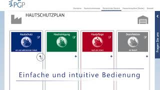 PGP Online-Hautschutzplan-Konfigurator
