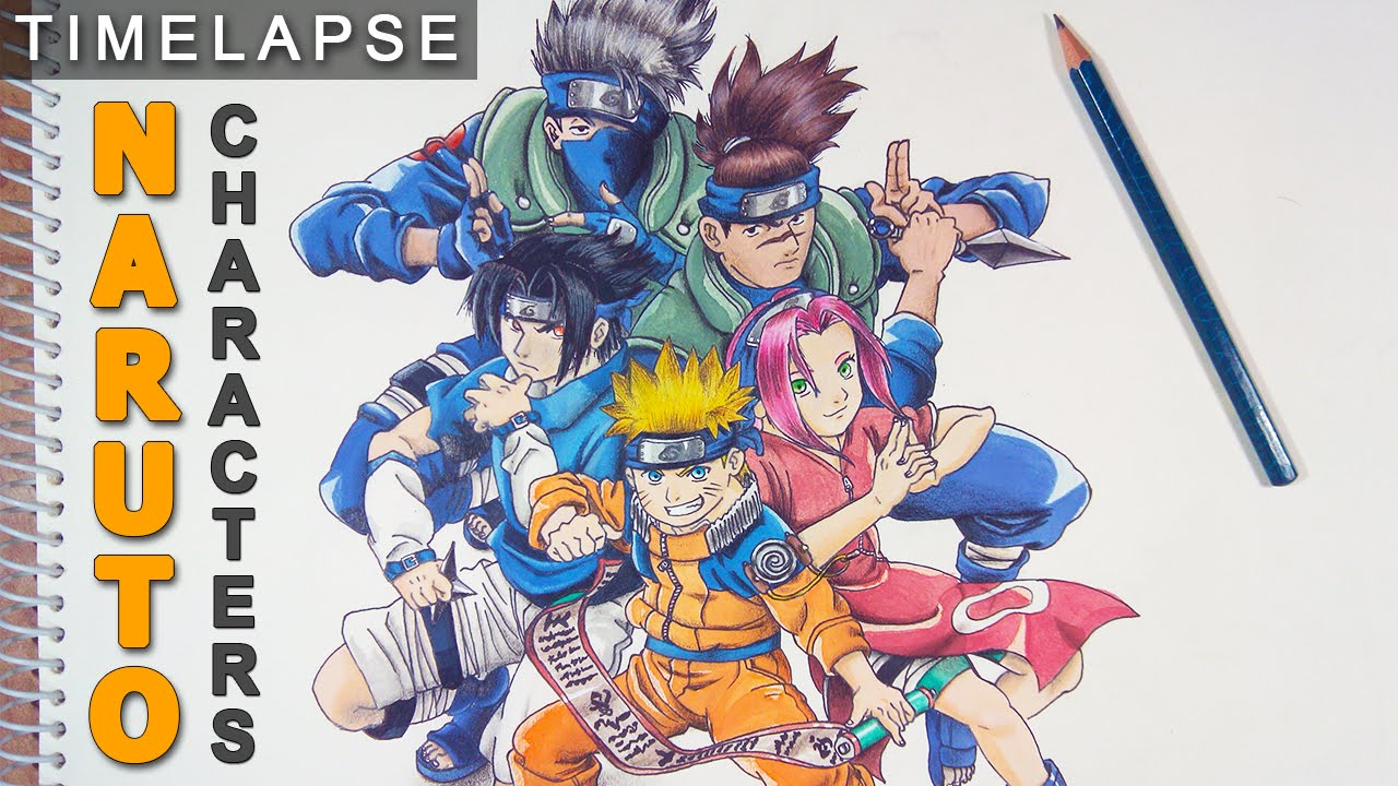 Draw naruto characters speed drawing youtube