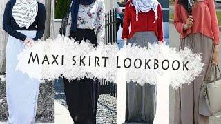 Casual Hijab Fashion Style-Maxi skirt Lookbook ملابس محجبات كاجوال- تنانير