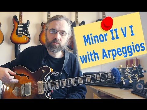 How to improvise over a minor II V I with arpeggios