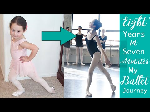 Ballet Journey 8 years in 7 minutes compilation - Robbie Downey - First Pointe Shoes to Job Search