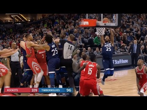 Derrick Rose Shows Off His BUNNIES!! Chris Paul FIGHT! Rockets vs T Wolves!