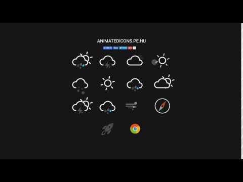 Animatedicons.pe.hu - Weather Icons Are Made Only With HTML And CSS3