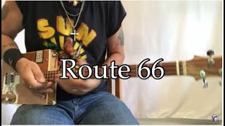 Route 66 lesson for 3 string Cigar Box Guitars in 3 different keys and slide