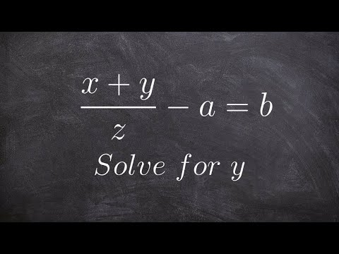 Solving a literal equation with a rational term