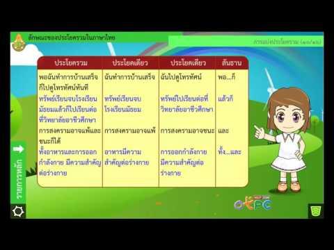 ลักษณะของประโยครวมในภาษาไทย - ภาษาไทย ม.2