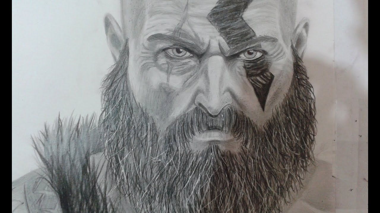Drawing Kratos From God Of War 2016